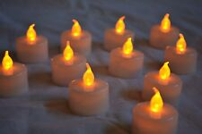 SET OF 12: FLICKERING FLAMELESS LED TEA LIGHTS