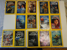 national geographic magazines 1983-1985 various issues 14 total