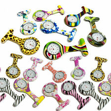 Nurses Medical Tunic Pocket Brooch Fob Watch colour design silicone watches NEW