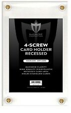25 Ultra BCW Pro 4 Screw Recessed Card Holders SD1