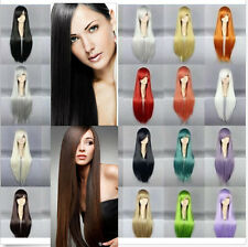 20 Colors 70cm Long Straight Stylish Women Lady Anime Heat Resistant Cosplay Wig