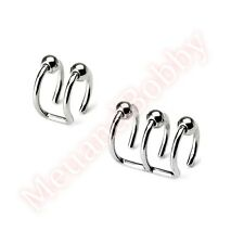 Non Piercing Clip On Closure Beads Cartilage Ear Ring CHOOSE SINGLE OR PAIR