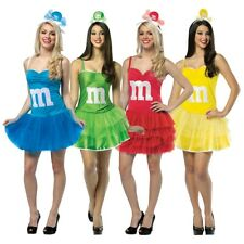 M&M's Party Dress Costume Adult Funny Candy Sexy Halloween Fancy Dress