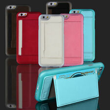 """Wallet Card Holder Stand Fitted Back Case Skin For Apple iPhone 6 4.7"""" 6S"""