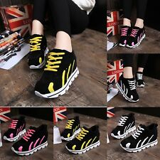 Fashion Women's Lace Up Round Toe Sneaker Breath Inside Heighten Casual Shoes #2