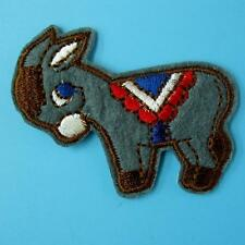 Dunkey Horse Pony Iron on Sew Patch Cute Applique Badge Embroidered Animal Cute