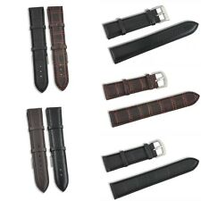 Retro Unique 18~22mm Genuine Leather Strap Steel Buckle Wrist Watch Band Soft