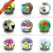 Plants vs Zombies Pins Buttons Cartoon  Badges 30mm Diameter,Kids Party Gifts