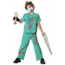 Dr. N Sane Costume Kids Horror Doctor Scary Bloody Zombie Halloween Fancy Dress