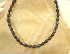 "4.5MM 1-STRAND CULTURED FRESHWATER BLACK PEACOCK OVAL PEARL ANKLET 9""-11"" SP #2"