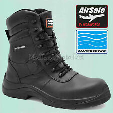 Waterproof Composite Toe Cap Leather S3 Safety Boots. Motorcycle, Detecting Work