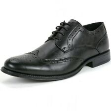 Mens Brogue Medallion Oxfords Wing Tip Lace Up Dress Shoes Alpine Swiss Wingtips
