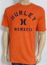 Hurley Relief Graphic Tee Mens Red Premium Fit Triblend T-Shirt NWT New