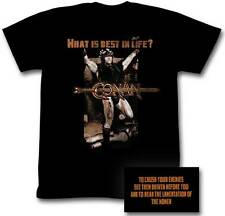 Conan the Barbarian What is Best in Life? Men's Black T-Shirt S,M,L,XL,2XL