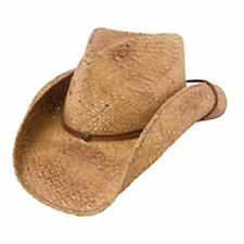 CHARLIE1HORSE PACIFICO WESTERN STRAW COWGIRL HATS W/ LEATHER BAND & BRASS CONCHO
