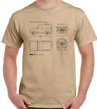 Defender Blueprints - Mens Funny T-Shirt Land Rover Off Roading 4x4 90 110