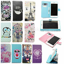 Stand Card Wallet Flip Leather Skin Cover Pouch Case For Multi Cell Phone Models