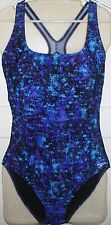 Womens SPEEDO Ultraback Swimsuit Size 16 18 Moderate NWT Bathing Suit Speckle