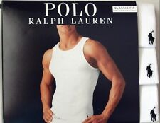 Polo Ralph Lauren Classic Fit 3 Pack Cotton Ribbed Tanks White S,M,L & XL