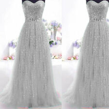 Sexy Sequins Long Prom Dress Evening Cocktail Wedding Bridesmaid Gown Dress gift