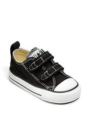 Girl's/Boy's Toddler CONVERSE ALL STAR 7V603 Black Adjustable Casual Shoes New