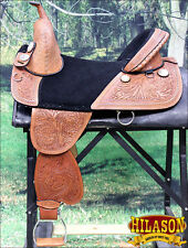 "TW101M HILASON TREELESS WESTERN TRAIL BARREL RACING SADDLE 13"" 14"" 15"" 16"" 17"""