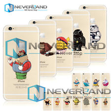 Cute Fat Funny Games Movies Character Soft/Hard Case Shell For iPhone 4/5/6 Plus