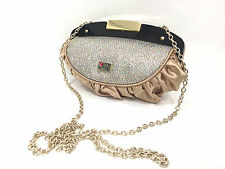 BORSA DA DONNA BORSA CLUTCH LOVE MOSCHINO SATIN SHINING BEIGE BS15MO123