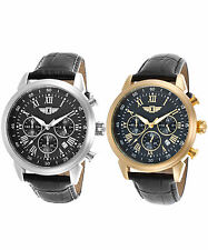 I by Invicta Men's Chronograph Black Leather Watch