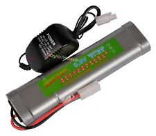 9.6V NiMH 3800mAh Rechargeable Battery Pack Tamiya Plug + Charger