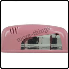 NEW 9W Pink Color UV Gel Nail Curing Dryer Lamp Light Best Price Here