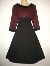 NEW VINTAGE FIFTIES STYLE CAITLIN CHECK DRESS ROCKABILLY 1950's PINUP