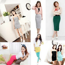 New Hot Fashion Girls Lady Two Ways to Wear High Elastic Slim Top Tube Hip Skirt