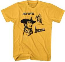 John Wayne Is America Men's Yellow T-Shirt S,M,L,XL,2XL