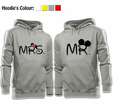 Mr Mickey Mouse Mrs Minnie Mouse Valentine's Day Sweatshirt Couples Hoodie Tops