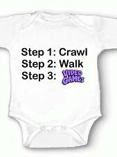Video Games Onesie Bodysuit Baby Shower Newborn Gaming Gamer Crawl Walk