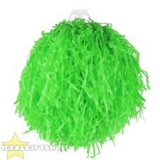 "1x POM POM LARGE 10"" GREEN CHEERLEADER SHAKER USA SPORTS DANCE SCHOOL"