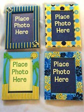 2x3in Mini PHOTO / PICTURE Frames - BLUE  Beach Hawaiian Flower THEMES Stocking