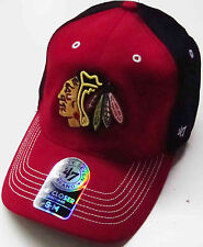 '47 BRAND NHL CHICAGO BLACKHAWKS 2015 CARSON CLOSER FLEXFIT HAT CAP NEW