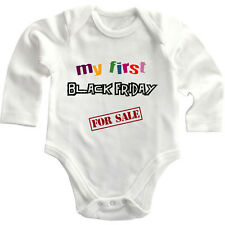 My First Black Friday For Sale Long Sleeve Baby Bodysuit One Piece