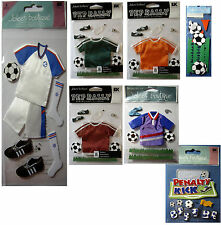 NEW SOCCER * Your Choice Design * Football Futbol Kit Offside JOLEES 3D Stickers