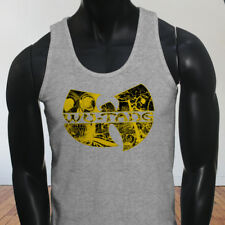 Rap Hip Hop Gza Rza ODB WU TANG CLAN COMICS Mens Gray Tank Top