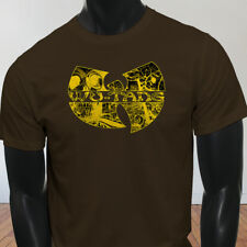 Rap Hip Hop Gza Rza ODB WU TANG CLAN COMICS Mens Brown T-Shirt