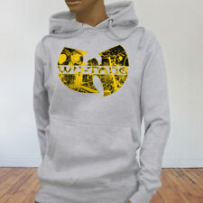 Rap Hip Hop Gza Rza ODB WU TANG CLAN COMICS Womens Gray Hoodie