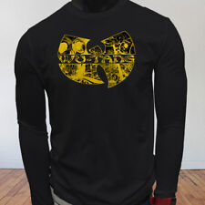 Rap Hip Hop Gza Rza ODB WU TANG CLAN COMICS Mens Black Long Sleeve T-Shirt