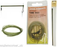 John Roberts Feeder Booms / Anti-Tangle,Rigid & Khaki Rig Tubes / Carp / Gardner