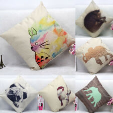 Animal Home Square Pillowcase Bed Sofa Throw Pillow Cases Car Back Cushion Cover