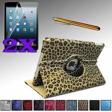 NEW LEATHER 360 DEGREE ROTATING CASE COVER Swivel STAND FOR APPLE iPAD AIR 5 5TH
