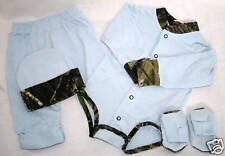 MOSSY OAK CAMO & BLUE 4 PC BABY INFANT SET - CAMOUFLAGE