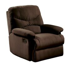 Microfiber Recliner Chair Furniture Reclining Home Living Room Brown Seat